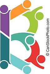 B Leute Logo-Schrift Alphabet.