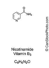 b3, formel, struktur, vitamer, vitamin, nicotinamide, chemische