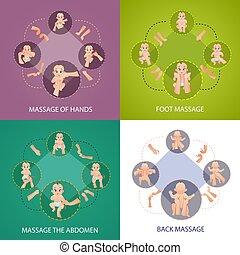 baby, begriff, satz, massage, heiligenbilder