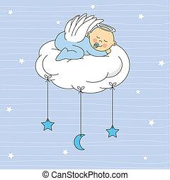 Baby Boy gekleideter Engel