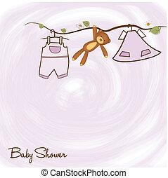 Baby-Duschkarte.