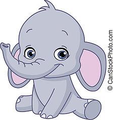 Baby-Elefant.