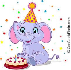 Baby-Elefant-Geburtstag