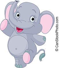 Baby-Elefant-Tanz