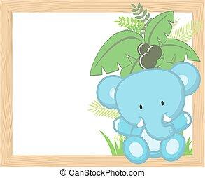 Baby-Elefantenrahmen.