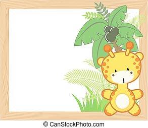 Baby Giraffenrahmen.