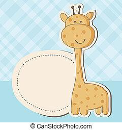 Baby Girl Duschkarte mit süßer Giraffe
