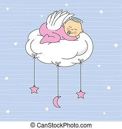 Baby Girl gekleideter Engel