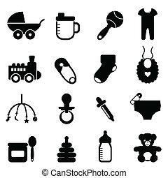 Baby-Icon in schwarz eingestellt