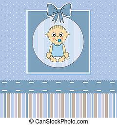 Baby-Jungen-Ansage-Karte.
