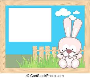 Baby Kaninchenrahmen.