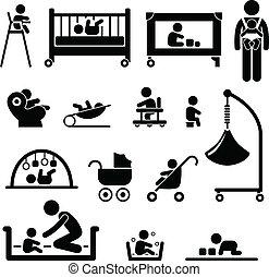Baby-Kinder-Ausrüstung