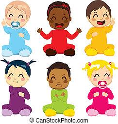 baby, kinder, multi-ethnisch