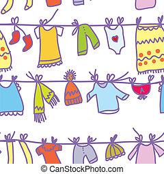 Baby-Klamotten sind nahtlos - lustiges Design.