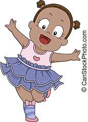 Baby-Mädchen-Ballerina-Kostüm.
