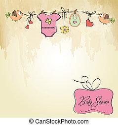 Baby-Mädchen-Duschkarte