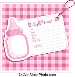 Baby-Mädchen-Duschkarte.