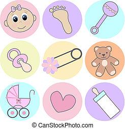 Baby-Mädchen-Ikonen