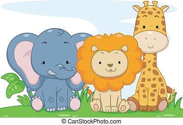 Baby Safari-Tiere.