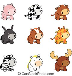 Baby-Tiere Cartoon Set Pack1a