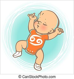 Baby zodiac Krebs