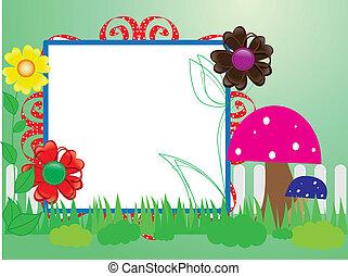 Babykrachbuch(10) für den Zaun, Blumen und Pilze