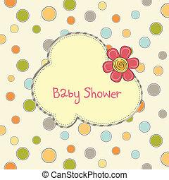 Babyparty-Karte mit Blumen