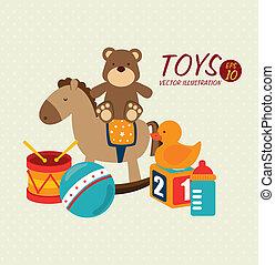Babyspielzeugdesign.