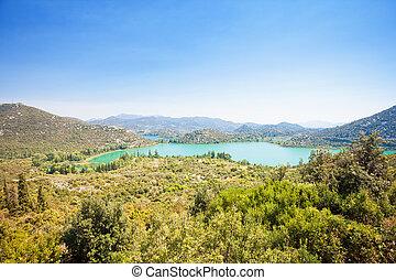 Bacina Seen, dalmatien, croatia - Aussichtspunkt auf die schönen bacina Seen.