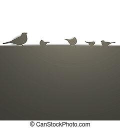 Background mit Vögeln.