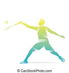 Badminton-Spielerdesign.