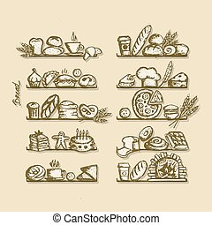 Bakery in Regalen, Sketch für Ihr Design