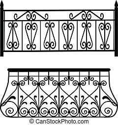Balcony Railings.