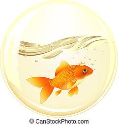 Ball mit Goldfisch.