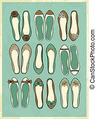 Ballerina-Schuhsammlung.
