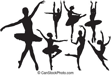Ballerina Vektor Silhouettes