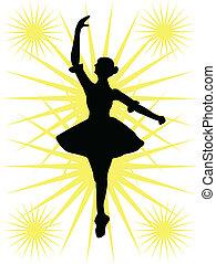 Ballerinas Silhouette.