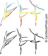 Balletlinie Kunst Silhouette