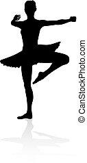 ballettänzer, silhouette, tanzen