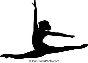Ballettspringt Tänzerin.