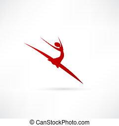 Balletttänzer Ikone