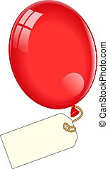 Ballon mit leerem Tag.