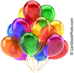 Ballons feiern Geburtstagsparty