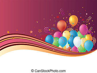 Ballons, Star Background
