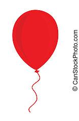 balloon, rotes