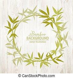 Bambus-Dekorativer Rahmen.