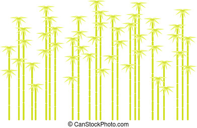 Bambusbaum-Silhouette, Vektor