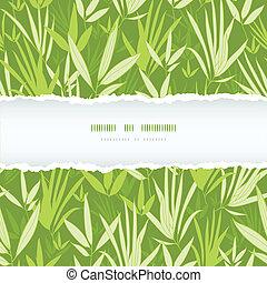 Bambuszweige zerrissener Rahmen, nahtloser Hintergrund