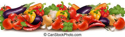 Banner aus frischem Gemüse