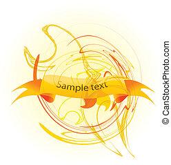 banner, grunge, vektor, text
